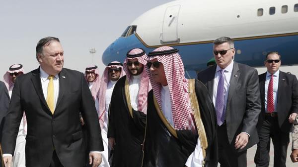 Pompeo llega a Arabia Saudita en medio de expectativa mundial
