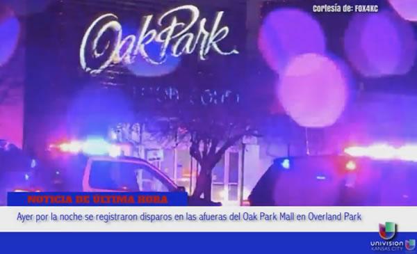 Nuevamente el Oak Park Mall fue blanco de disparos en el estacionamiento