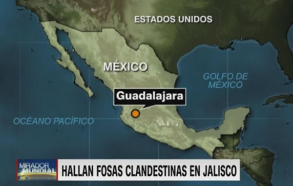 Autoridades localizan 27 cuerpos en fosas clandestinas en Guadalajara