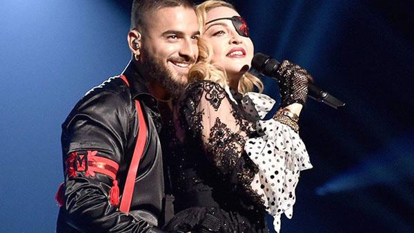 Felices los 4: Maluma con sus alucinantes hologramas de Madonna