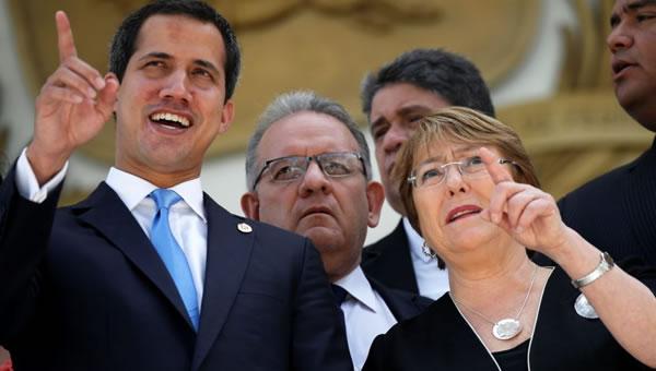 "Guaidó sobre Bachelet: ""Nos planteó que está insistiendo con la liberación de presos políticos"""