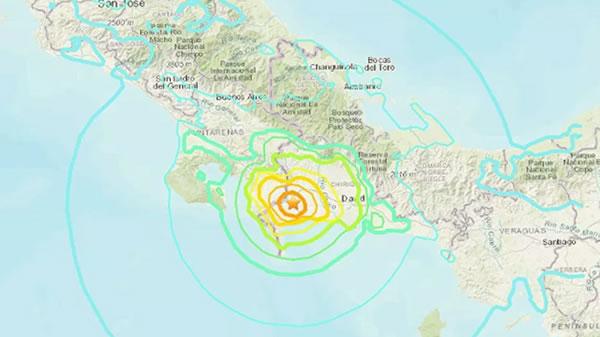 Terremoto de magnitud 6.3 en Panamá se sintió también en Costa Rica