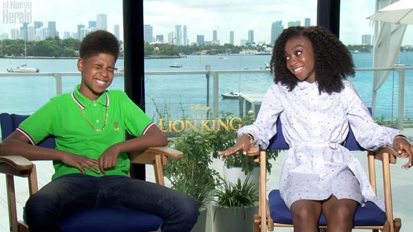 Los chicos de The Lion King emocionados por sus experiencias al hacer la película