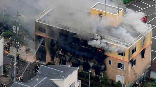 Ataque incendiario en estudio de Kyoto: 33 muertos en el peor asesinato en masa en Japón
