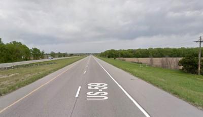 accidente en la US-59 al sur de Lawrence