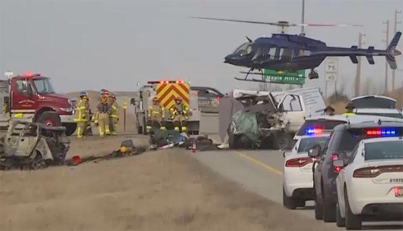 accidente en la I-70 cerca de Maple Hill
