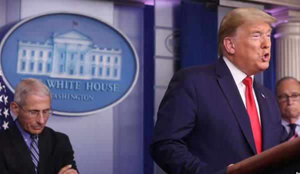 Trump: Decisión de reabrir la economía será tomada bajo la guía de máximos funcionarios de salud