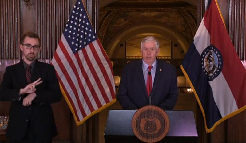 El gobernador de Missouri, Mike Parson / Foto: Archivo