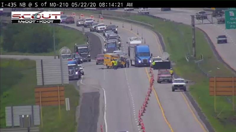 accidente en la I-435 en KCMO