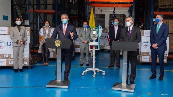 Colombia agradece a EE.UU. el envío de respiradores para pacientes de COVID-19