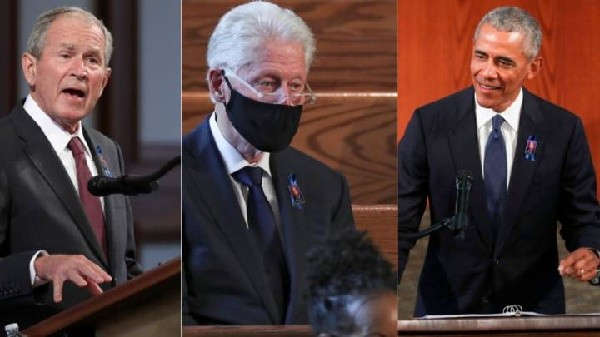 Tres expresidentes de EE.UU. rinden homenaje al ícono de los derechos civiles John Lewis