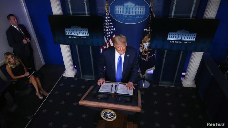 Trump rechaza comprometerse a abandonar el cargo de manera pacífica