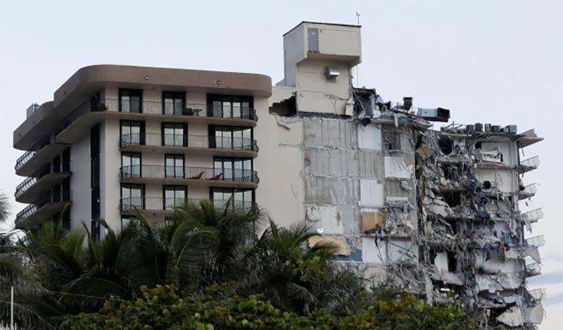 edificio que se derrumbó en Miami