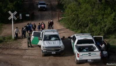 migrantes que llegan a la frontera sur
