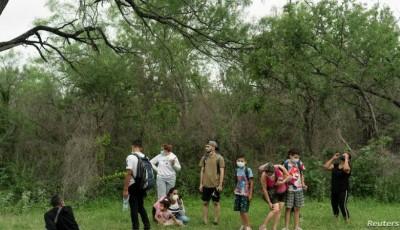 sudamericanos llegando a la frontera de Estados Unidos y México