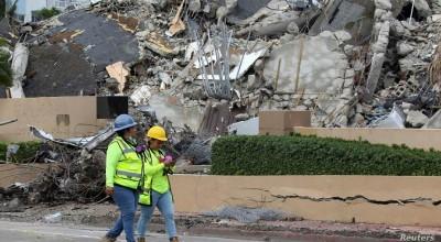 búsqueda de víctimas en los escombros de Surfside