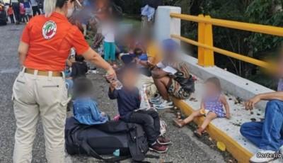 migrantes que buscan en México llegar a EE .UU.