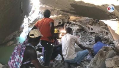 tareas de rescate en Haití
