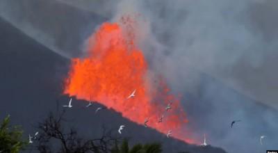 Erupción de volcán de las Islas Canarias